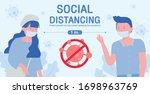 girl and  man wearing... | Shutterstock .eps vector #1698963769