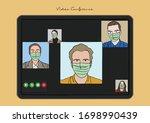 vector illustration of video...   Shutterstock .eps vector #1698990439