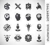 creativity and inspiration... | Shutterstock .eps vector #1698997993