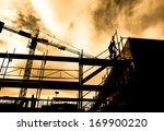 silhouette of construction... | Shutterstock . vector #169900220