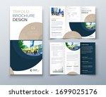 tri fold brochure design with... | Shutterstock .eps vector #1699025176