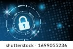 cyber technology security ... | Shutterstock .eps vector #1699055236