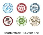retail stamps and badges | Shutterstock .eps vector #169905770