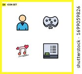 4 creative icons modern signs... | Shutterstock .eps vector #1699059826