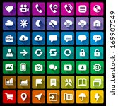 collection of 49 flat icons   2 | Shutterstock .eps vector #169907549