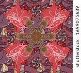 vector illustration. on purple  ... | Shutterstock .eps vector #1699075639