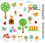 spring set   Shutterstock .eps vector #169908164