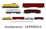 a side illustration of cargo... | Shutterstock . vector #169908314