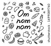 A Hand Drawn Set Of Food And...