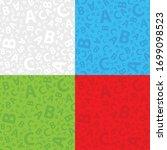 multicoloured abc letter... | Shutterstock .eps vector #1699098523