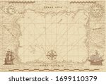 Vector Image Of An Old Sea Map...