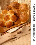 Small photo of indispensable product of Turkish houses, bread, the transformation of wheat into bread with yeast and flour