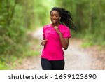 African American Woman Jogger...