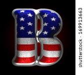 vector american metal figure | Shutterstock .eps vector #169913663
