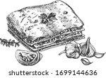 italian cuisine delicious...   Shutterstock .eps vector #1699144636