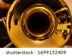 Closeup Of Tenor Trombone On...