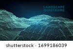 abstract wireframe background....   Shutterstock .eps vector #1699186039