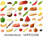 vector illustration of various... | Shutterstock .eps vector #169921268