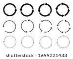 arrow circle set.reload sign... | Shutterstock .eps vector #1699221433