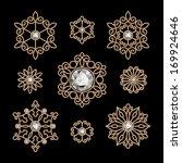 elegant gold jewelry decoration ... | Shutterstock .eps vector #169924646