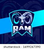 Ram Goat Head Mascot Esport...
