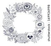 flower wreath. vector ... | Shutterstock .eps vector #169926998
