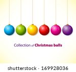 collection of color christmas... | Shutterstock .eps vector #169928036