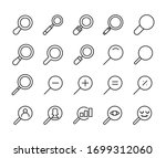 icon set of search. editable...