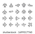 simple set of air plane icons... | Shutterstock .eps vector #1699317760