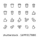 simple set of coffee icons in... | Shutterstock .eps vector #1699317880