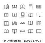 simple set of book icons in... | Shutterstock .eps vector #1699317976