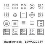 stroke line icons set of menu....
