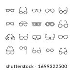 stroke line icons set of... | Shutterstock .eps vector #1699322500