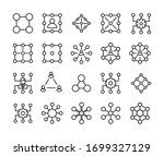 vector line icons collection of ... | Shutterstock .eps vector #1699327129