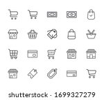 simple set of shop modern thin... | Shutterstock .eps vector #1699327279