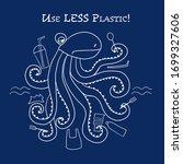 Use Less Plastic Concept....