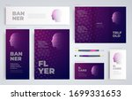 face and squares set flyer... | Shutterstock .eps vector #1699331653