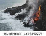 Molten Lava Flowing Into The...