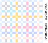 tartan fabric texture. seamless ... | Shutterstock .eps vector #1699352956
