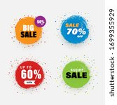 vector sale tag with grunge...   Shutterstock .eps vector #1699355929