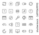 sign icon set. collection of... | Shutterstock .eps vector #1699369993