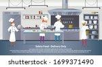 banner illustration safety food ... | Shutterstock .eps vector #1699371490