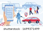 car buying online service on... | Shutterstock .eps vector #1699371499