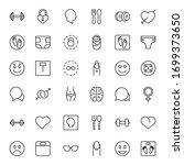 people line icon. vector symbol ... | Shutterstock .eps vector #1699373650