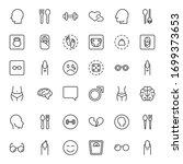 people line icon. vector symbol ... | Shutterstock .eps vector #1699373653