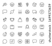 people line icon. vector symbol ... | Shutterstock .eps vector #1699373659