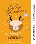 cute baby shower in... | Shutterstock .eps vector #1699378603