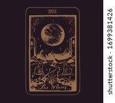 vector hand drawn tarot card... | Shutterstock .eps vector #1699381426