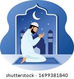 memohon kepada allah swt dengan ...   Shutterstock .eps vector #1699381840