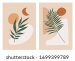 abstract minimal art with plant.... | Shutterstock .eps vector #1699399789